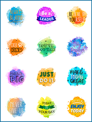 Colorful Positive Sayings
