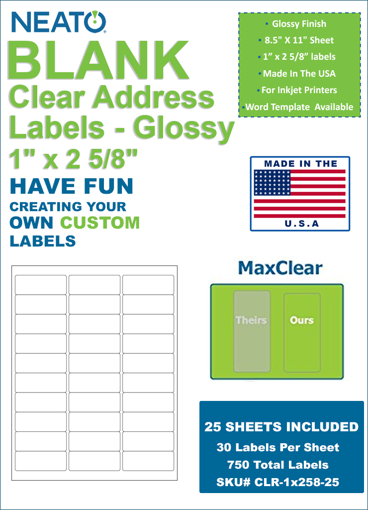 This is a graphic of Sly Clear Printable Mailing Labels