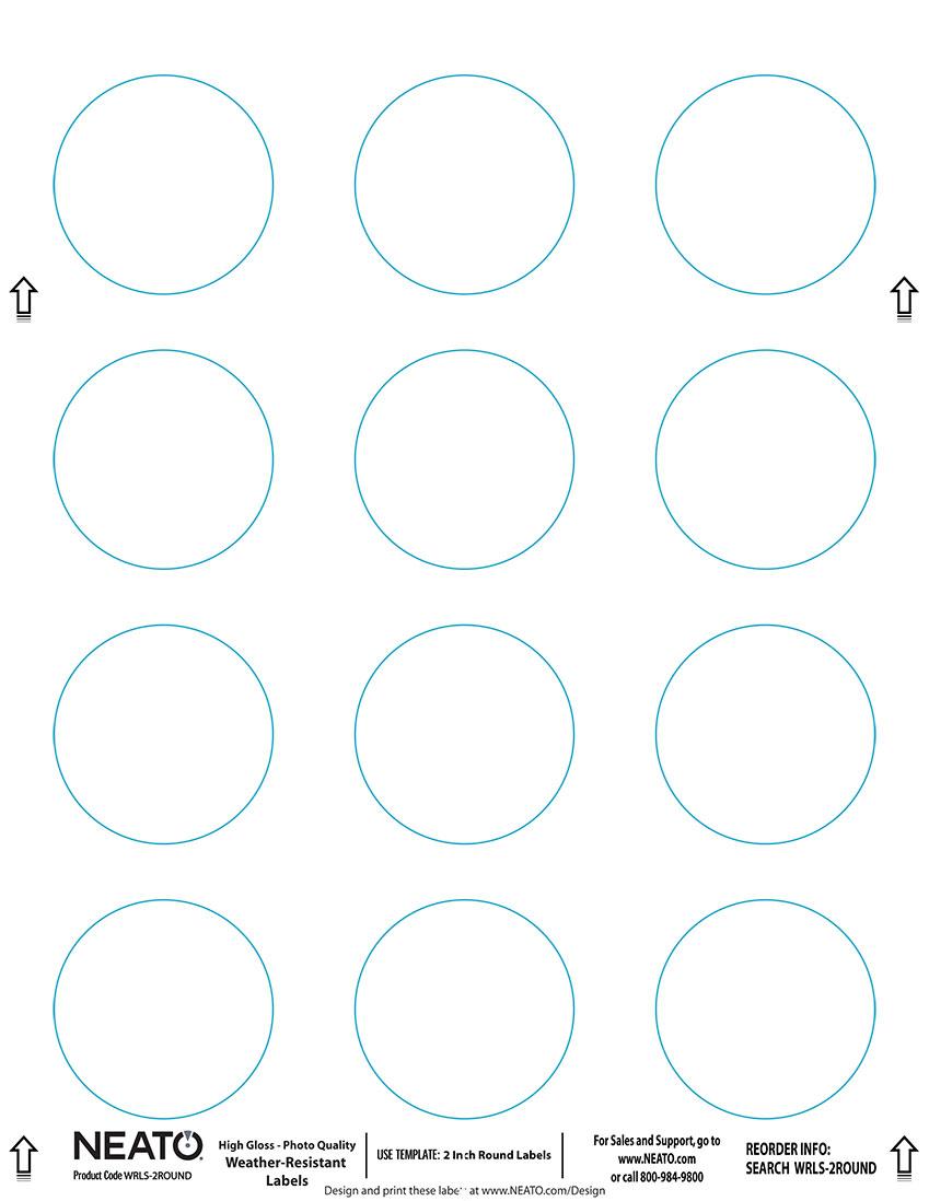blank craft labels high gloss vinyl water resistant 2 round labels 5 sheets 60 labels. Black Bedroom Furniture Sets. Home Design Ideas