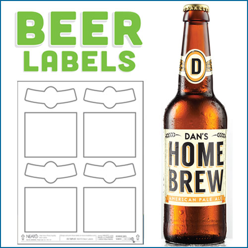 beer label template illustrator Blank Beer Labels, Water Resistant, Peel Off With Easy
