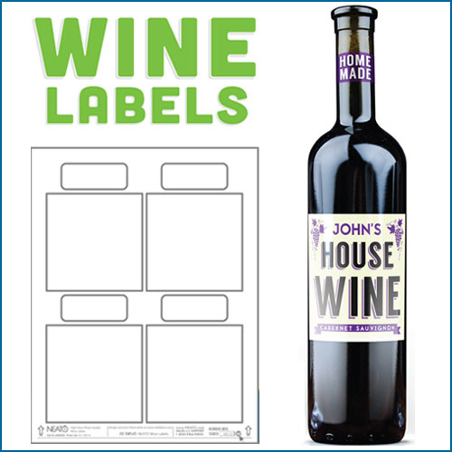 blank wine labels water resistant peel off with ease. Black Bedroom Furniture Sets. Home Design Ideas