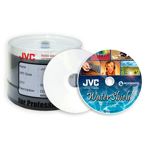 picture relating to Printable Cd R identified as Taiyo Yuden WaterShield White Inkjet Hub Printable CDRs