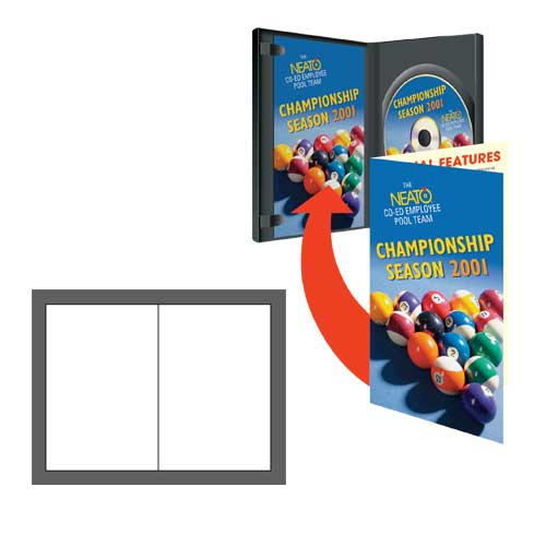 High Gloss DVD Case Booklets - 100 Pack