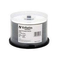 Verbatim DVD-R 16X 4.7GB White Hub Printable-50 Pack