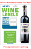 Blank Wine Labels - High Gloss - Water Resistant - No Retail Packaging - You Choose How Many Labels - Starting at 28 Labels