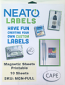 """NEATO Magnetic Sheets - 10 Glossy Printable Magnet Sheets - 8.5"""" x 11"""""""