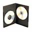 Black SlimLine Double DVD Cases - 25 Pack