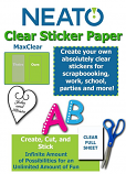Neato MaxClear Transparent Clear Sticker Paper - 10 Pack - Works with Inkjet Printers and All Cutters - PLUS FREE SHIPPING!