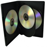 Black Quadruple DVD Cases - 10 Pack