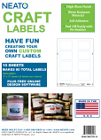 "Blank Craft Labels - High Gloss, Vinyl, Water Resistant, 2"" X 3"" - 10 Sheets - 80 Labels"