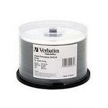 Verbatim DVD-R 8X 4.7GB White Inkjet Print-50 Pack